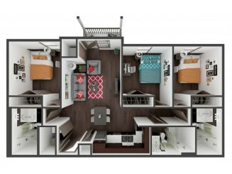 C1 Balcony Floor plan layout