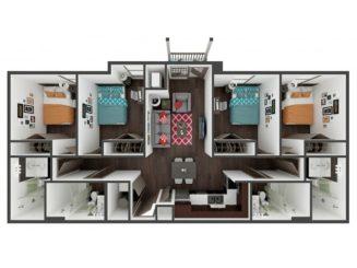 D1 Balcony Floor plan layout
