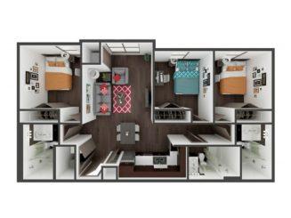 C1 Floor plan layout
